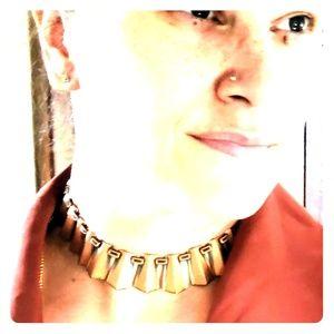 Vintage Renoir Copper Statement Necklace